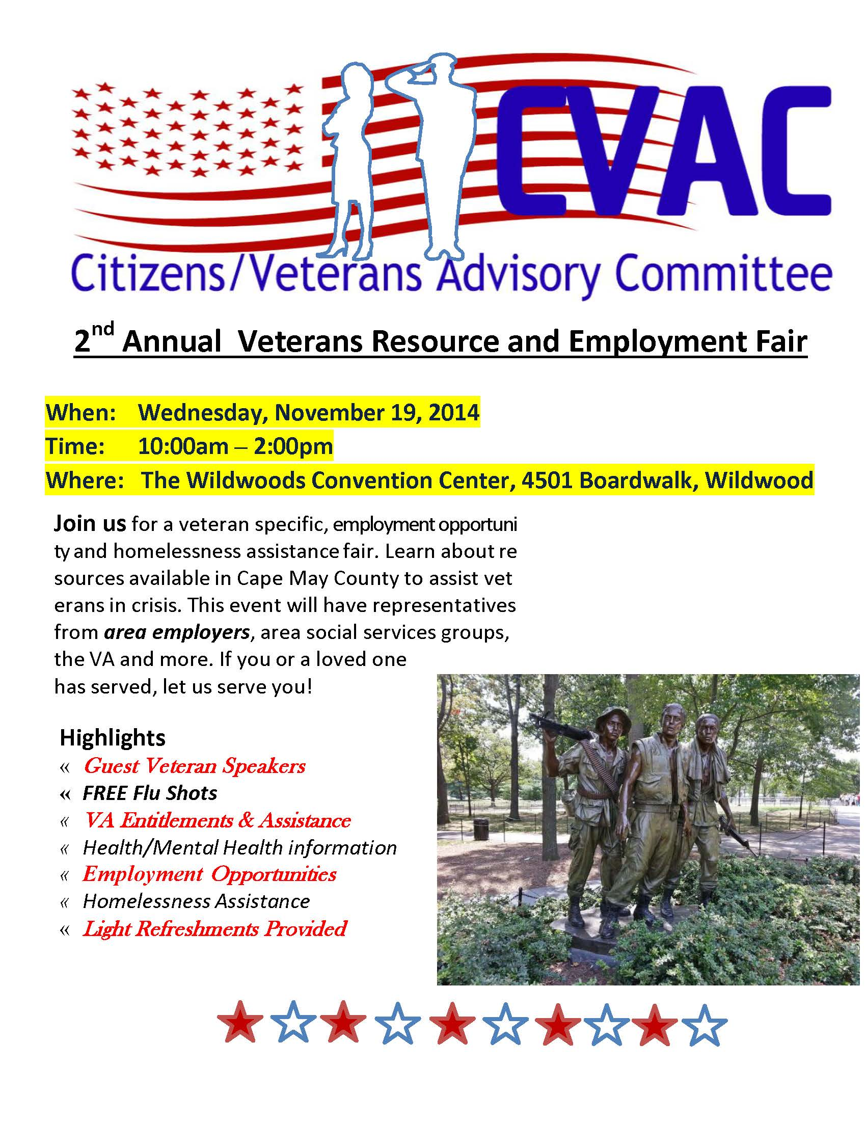 CVAC 2nd Annual Vets Resource and Employment Flyer